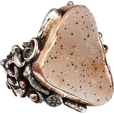 love the artful look of this sandra dini mineral agate ring High Jewelry, Jewelry Art, Vintage Jewelry, Jewelry Accessories, Jewellery, Agate Jewelry, Agate Ring, Druzy Ring, Designing Women