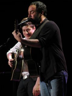 Marcus Mumford and Dave Matthews!  I don't think I could handle hearing their voices together!  I would melt!
