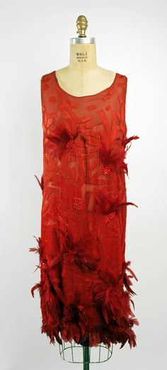 """Josephine Baker"" silk, glass beads and feathers evening dress, attributed to Drecoll, 1926"