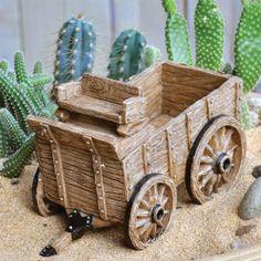 Cactus Garden Wagon Planter