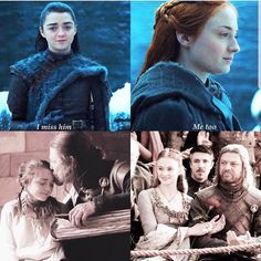 Stark girls and their father