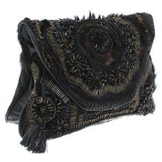 Antik Batik Shoulder bag with pony fur
