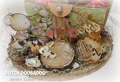 Jenine's Card Ideas: Stappenfoto DDBD Box Art mal Basket