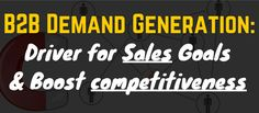 It is the mother of lead generation. Having the right strategy in demand generation will result to better and effective lead generation for your company. But the question is; How are you gonna use demand generation to drive sales? Business Sales, Business Marketing, Successful Marketing Campaigns, Lead Generation, Social Media, Goals, Led, This Or That Questions, Tips