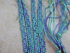 Kumihimo Handwoven Rayon Satin & Hand Dyed Silk Cord by allmybeads