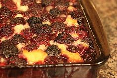 In Erika's Kitchen: Traditional blackberry cobbler recipe~T~ A favorite summer dessert. So easy and so delicious.