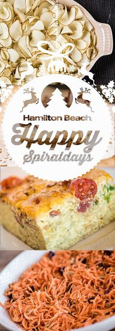 The Hamilton Beach® 3-in-1 Electric Spiralizeris the perfect way to add a little something special to your meals over the holidays.