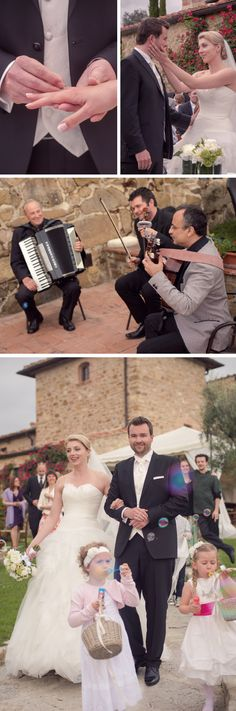 Outdoor wedding celebration with wedding music. / Eure Trauung unter freien Himmel / Trouwen in de open lucht in Toscane. - www.conamore.it   © Susi Nagele (Hochzeitsfotografie - Wedding Photographer - Bruiloftsfotografie - Flowers www.jardindivers.it).