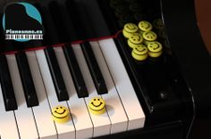 These cute smileys are the perfect piano teaching aid.