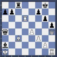 Echec et Mat en 5 coups - Niveau Moyen - http://lnkd.in/dC-hTVe Makov 1-0 Vazhenin, Moscou 1977