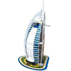 3D DIY Educational Puzzle Toys for Girl and Boys Birthday Gift Christmas Gift Burj Al Arab -- This is an Amazon Affiliate link. You can find more details by visiting the image link.