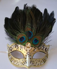 peacock mask... I LOVE THIS!!