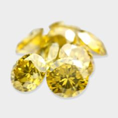 0.58 ctw, 2.65 mm, Canary Yellow, VS-2 Clarity, Round Cut Matching Diamonds Lot #diamonds #loosediamonds #yellowdiamonds #fancydiamonds @dmzdiamonds Canary Yellow Diamonds, Clarity, Stud Earrings, Jewelry, Jewlery, Jewerly, Stud Earring, Schmuck, Jewels