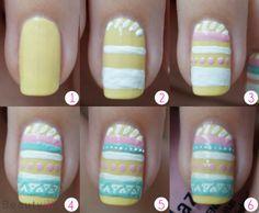 DIY Nail Art   Aztec, Easter ~ Beautyill   Beautyblog met nail art, nagellak, make-up reviews en meer!