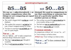 """B2 First Grammar. Difference between the comparative structures """"AS...AS"""" and """"NOT SO...AS"""". Cambridge English, Use of English, Key word transformation, pass the FCE, pass the B2 First, First for schools, Pass the First, Pass the B2. B2 Prüfungsvorbereitung, B2 exam preparation. New Words In English, Word Transformation, Advanced English Grammar, Idioms And Proverbs, Cambridge English, Adverbs, Ielts, Schools, School Ideas"""