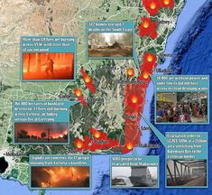 Tourists and residents have been told to evacuate a stretch of the New South Wales south coast (pictured) as devastating bushfires threaten the area, along with an area of the Shoalhaven between Burrill Lake north and Nowra Sussex Inlet, Australian Bush, Volunteer Firefighter, New South, Drinking Water, Coast, South Wales, Mail Online, Daily Mail