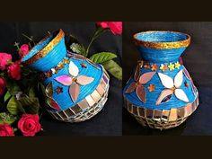 DIY - Newspaper & Old CD Decorative Pot / DIY Flower vase / DIY Pen Stand / Best out of waste - YouTube