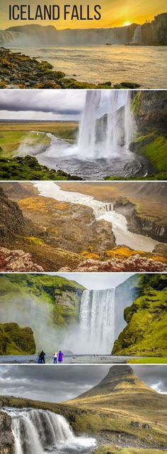 21 amazing Waterfalls in Iceland - Photos and Videos of the most majestic, the unusual, the largest falls... Includes the famous Seljalandsfoss and Skogafoss, as well as off the beaten track waterfalls.