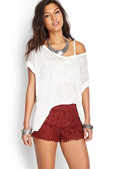 Crochet Lace Shorts | Forever 21 - 2000122850
