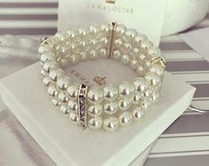 Pearl Bridesmaid Cuff Bracelet