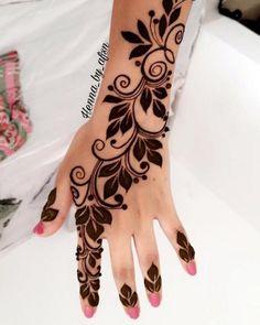 Mehndi Designs Finger, Henna Tattoo Designs Simple, Floral Henna Designs, Indian Mehndi Designs, Henna Art Designs, Mehndi Designs For Beginners, Modern Mehndi Designs, Mehndi Design Photos, Wedding Mehndi Designs
