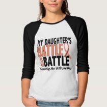 My Battle Too Daughter Uterine Cancer T-shirt