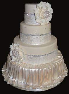 Beautiful Cream Wedding Cake
