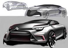 citroen advanced car sketches
