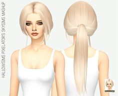 Medium Length Ponytail Hair for The Sims 4
