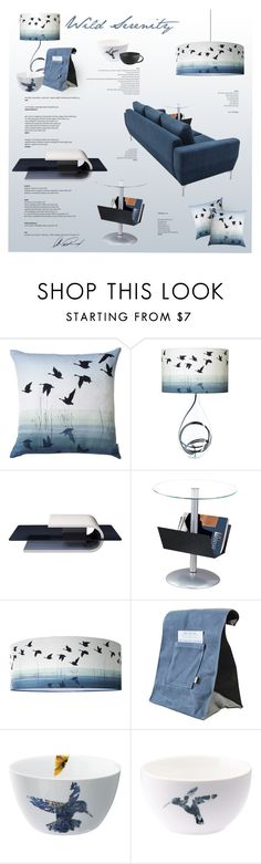 """""""Wild Serenity"""" by nyrvelli ❤ liked on Polyvore featuring interior, interiors, interior design, home, home decor, interior decorating, Anna Jacobs, Dot & Bo, Loveramics and Blue"""