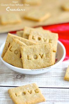 Wheat Thin Copycat Crackers (GF) gluten free, gluten free recipes, gluten free food