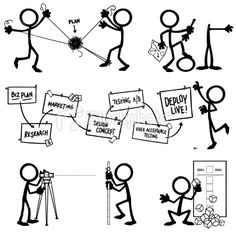 Stickfigure Planning Royalty Free Stock Vector Art Illustration