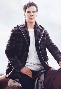 Benedict Cumberbatch on a HORSE.