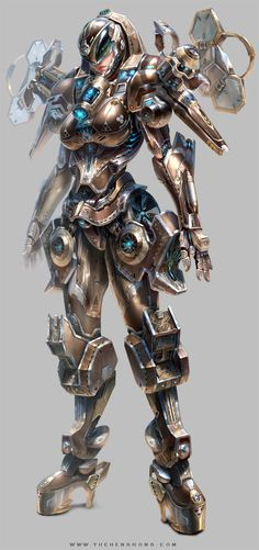Awesome Detailed Game Character Designs by Yu Cheng Hong, concept artist and illustrator based in Taipei, Taiwan. #Illustration #DigitalArt #VideoGames