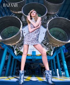 Gigi Hadid heads to NASA for a high-fashion mission in the June/July 2017 issue of Harper's BAZAAR. See the full fashion editorial here: