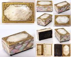 A spectacular and early jewelry case, box from very early 1800s and in the form we are used to seeing noted as being from the boutiques of the old