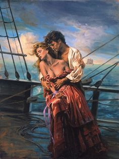 couples - Page 47 Romance Novel Covers, Romance Art, Fantasy Romance, Black Art Pictures, Colorful Pictures, James Griffin, Fantasy Art Women, Medieval, Romantic Pictures