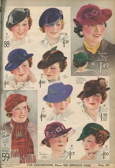 This #catalogsunday its hats hats #hats from the #1930s #newvintagelady