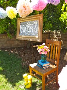 Bridal shower decor