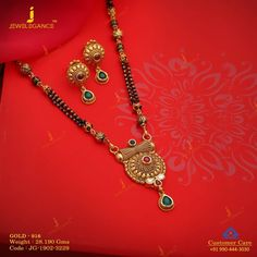 Jadtar Mangalsutra jewellery for Women by jewelegance. ✔ Certified Hallmark Premium Gold Jewellery At Best Price Antique Jewellery Designs, Gold Ring Designs, Gold Bangles Design, Gold Jewellery Design, Jewelry Design Earrings, Gold Earrings Designs, Indian Wedding Jewelry, Indian Bridal, Indian Jewelry