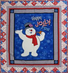 Quilting Treasures Fun With Frosty 23416 B PANEL Cotton Fabric FREE US SHIP