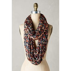 Foxes Infinity Scarf ($58) ❤ liked on Polyvore featuring accessories, scarves, navy, infinity loop scarves, tube scarves, tube scarf, round scarves and circle scarves