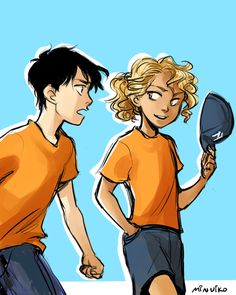This is such a perfect Percy and Annabeth from the early books.  He so doesn't understand her yet.