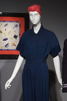 Jumpsuit - Denim - 1942-1945, USA - Gift of David Toser