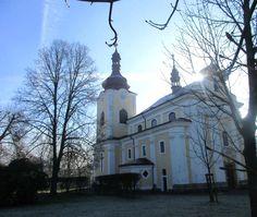Kostel sv. Kateřiny - kulturní památka - r. 1706 - Sloup v Čechách - Česko