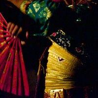 Kecak dancer details