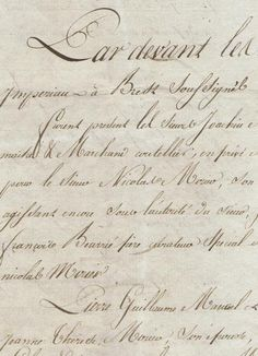 French letter from April 30, 1813  Very calligraphic writing in personal correspondence.
