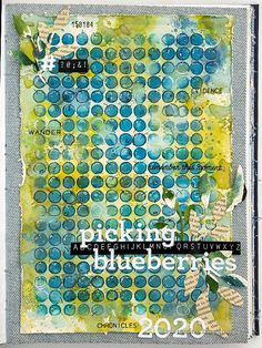 Layers of ink - Blueberries with stencil, pen and ink tutorial by Anna-Karin Evaldsson. Made with Simon Says Stamp STAMPtember products.