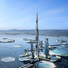 Kohn Pedersen Fox + Leslie E. Robertson's Next Tokyo 2045 Masterplan Features a Mile-High Skyscraper. Check out @gentlemanchannel for more  Tag your friends  •#Arc_Only