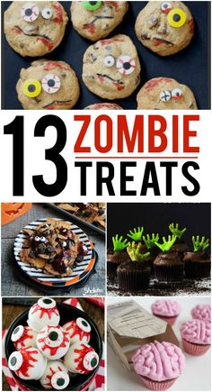 Halloween food!  Fun Zombie treats for Halloween party food ideas or just something fun for the kids.